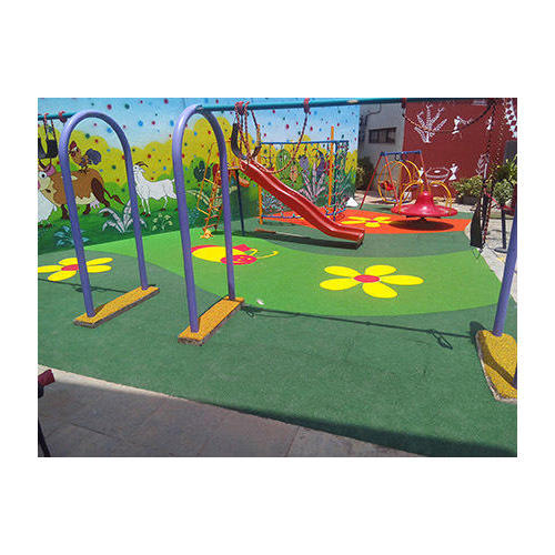 Rubber flooring for playgrounds